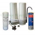 Twin Fluoride and carbon bench top water filter