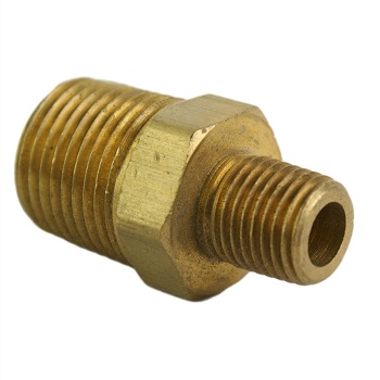 "1/2"" M x 1/4"" M Reducing Brass Nipple"