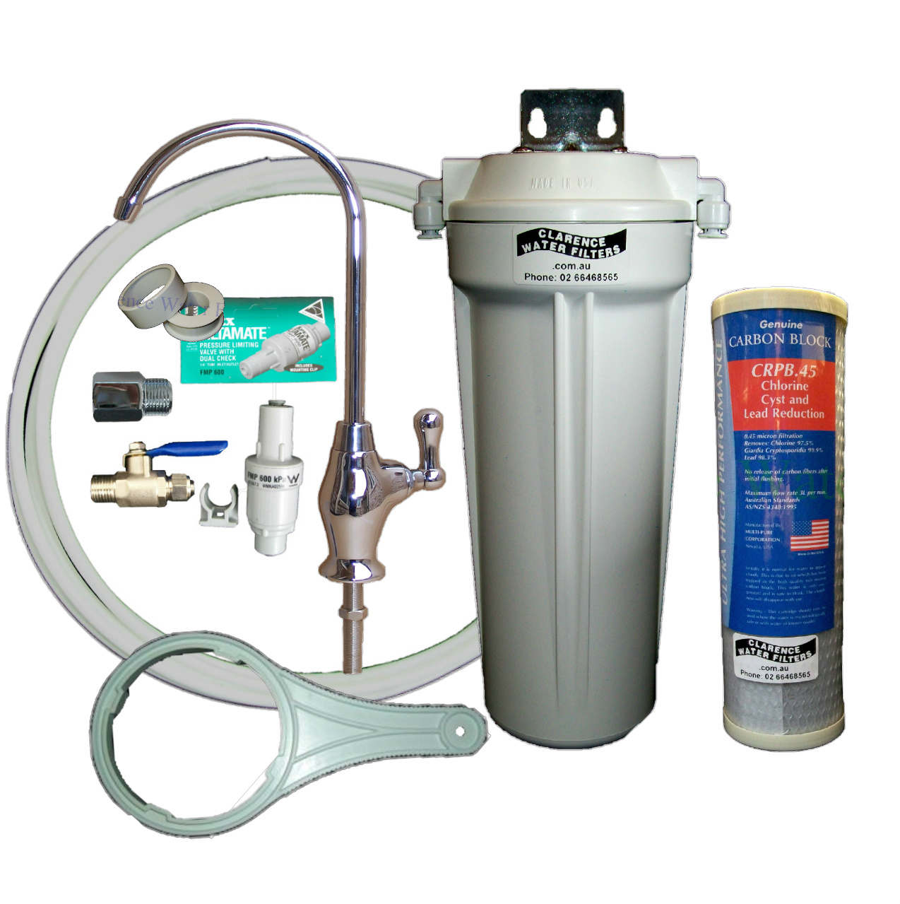 Clarence water filters australia qmp1 4sus single under for Kit filtration