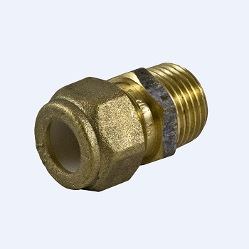 "Brass 1/2"" Male to 1/2"" Compression"