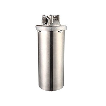 "Jumbo 10"" Stainless Steel Filter Housing"