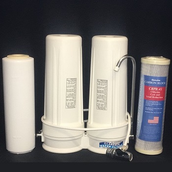 Fluoride and Chlorine Reducing Twin Bench Top Water Filter System