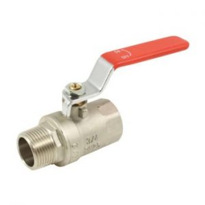 3-4inch Brass Ball Valve Red Lever Male x Female