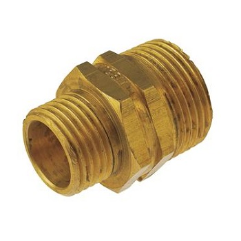 "3/4"" M x 1/2"" M brass reducing nipple"