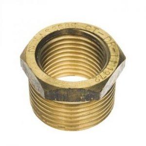 "3/8"" - 1/4"" brass reducing nipple"