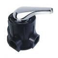Manual backwash valve head