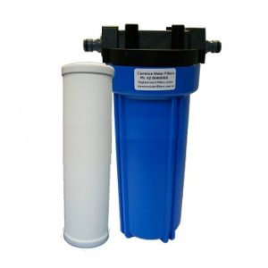 Portable Water Filter with 0.5 Micron Ceramic Filter and Click on Hose Fittings