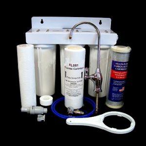 Triple Under Sink Fluoride Water Filter