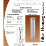 Size 2 SS bag filter housing